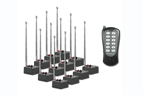 12 cue FCC & CE certificated distributed wireless firing system AlphaFire 12Q (6th Version)